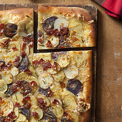 Potato, Rosemary, and Bacon Pizza