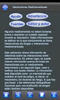 Screenshot of Interacciones Medicamentosas