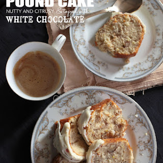 Banana Pound Cake with White Chocolate