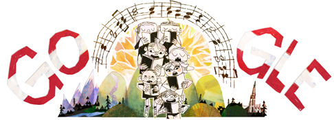 Google Doodle Austria National Day 2013
