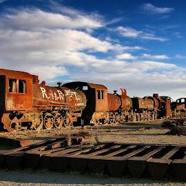 final destination by Guy Gillade - Transportation Trains ( train cemetery, uyuni )