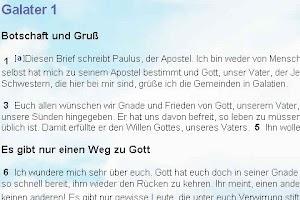 Screenshot of Die Bibel Hoffnung für Alle