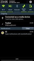 Screenshot of AutoNotification