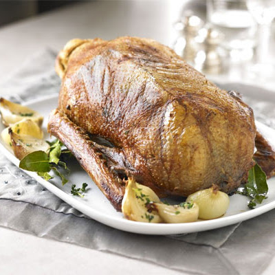 Classic Roast Goose With Cider Gravy