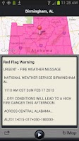 Screenshot of FLASH Weather Alerts