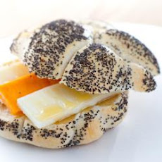 Cheese And Honey In A Seeded Bun
