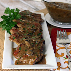 Smothered Pork Chops with Mushroom Gravy