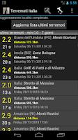 Screenshot of Terremoti Italia