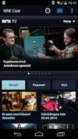 Screenshot of NRK Cast