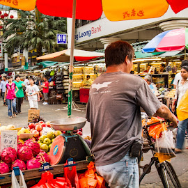 Fruit street vendors in KL by Adi Susanto - City,  Street & Park  Markets & Shops (  )