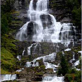 Waterfall by Terje Lepamets - Landscapes Mountains & Hills ( mountain, nature, beautiful, waterfall, norway )