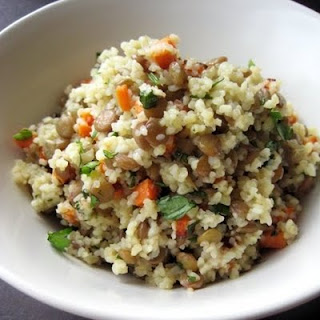 Warm Bulgur & Lentil Salad