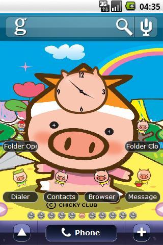 Cute little pig Full Theme