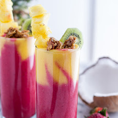 Tropical Fruit Breakfast Smoothie.