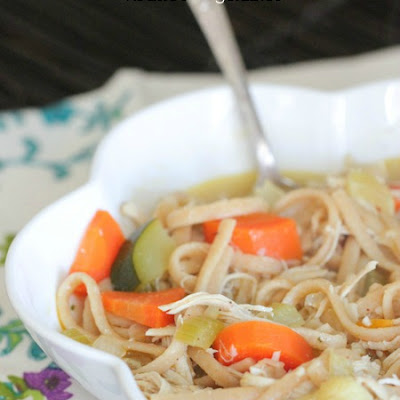 Classic Chicken Noodle Soup with Roasted Vegetables