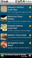Screenshot of Recipe Droid