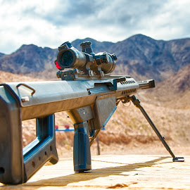 Long Distance Relationship by Robb Harper - Artistic Objects Other Objects ( sniper, .50 cal, nevada, barrett, rifle, photos by robb harper, gun )