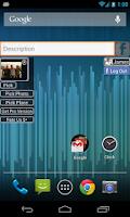 Screenshot of Facebook Status Update Widget