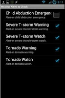 Screenshot of TorWarn Weather Alerts 2 Free