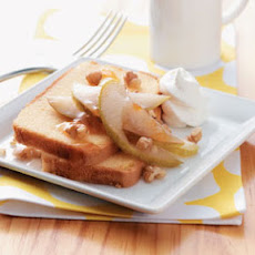 Glazed Pear Shortcakes Recipe