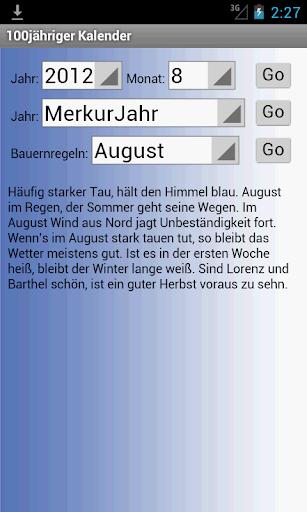 100Jähriger Kalender - screenshot