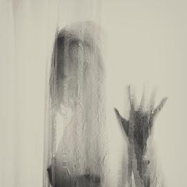 Behind curtain by Ionut Cirja - Nudes & Boudoir Artistic Nude ( hand, nude, female, behind, curtain )