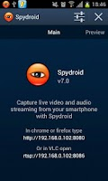 Screenshot of spydroid-ipcamera