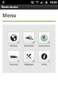 Screenshot of Škoda Service