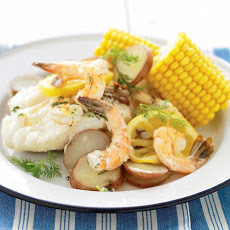 Grilled New England Seafood