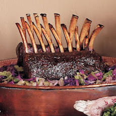Roasted Rack of Venison with Red Currant and Cranberry Sauce