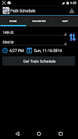Screenshot of Path Train Schedule