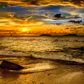 Time and tide wait for no man by Gerard Macorvick - Landscapes Sunsets & Sunrises