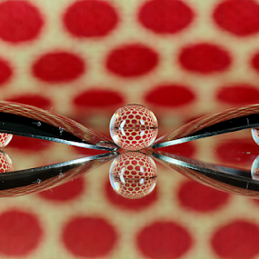 by Dipali S - Artistic Objects Other Objects ( reflection, red, pokla dots )