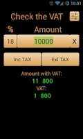 Screenshot of Check the VAT
