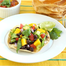 Black Bean and Mango Tostadas