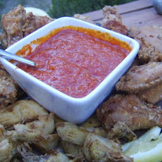 Fried Chicken and Artichokes With Salsa Brava