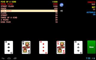 Screenshot of Jolly Card Poker