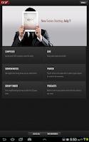 Screenshot of CCV Mobile App