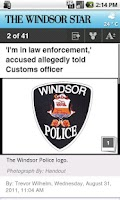 Screenshot of The Windsor Star