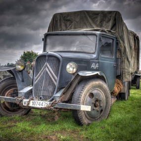 WW2 lorry by John Walton - Transportation Automobiles ( ww2, heritagefocus, french, lorry )