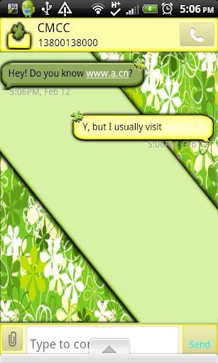 GO SMS THEME StPatricksDay1