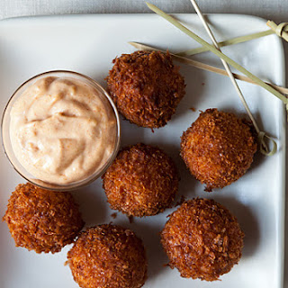 Serrano Ham and Manchego Croquetas with Smoked Pimentón Aioli