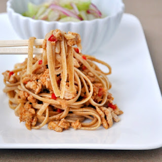 Dan Dan Noodles & Pickled Cucumber Salad