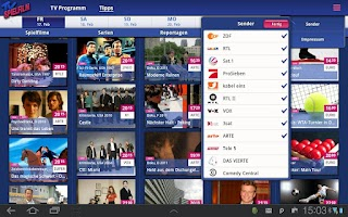 Screenshot of TV SPIELFILM - Tablet Edition