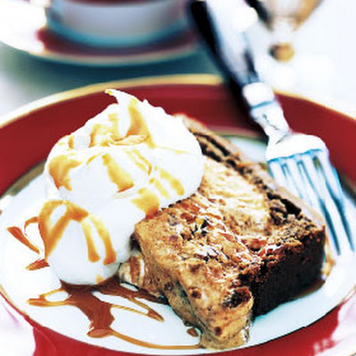 Pumpkin and Pecan Semifreddo with Caramel Sauce