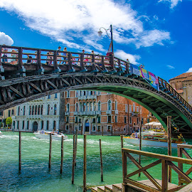 Accademia Bridge in Venice Italy by Bobby Photography's - Buildings & Architecture Bridges & Suspended Structures ( accademia bridge, venice )