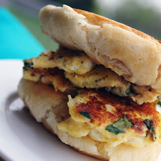 Egg, Pesto & Mozzarella Breakfast Sandwich