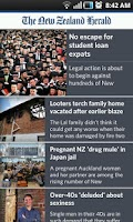 Screenshot of NZ Herald News
