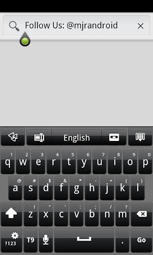 Black GO Keyboard Theme