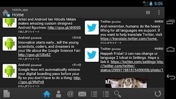 Screenshot of twitcle plus (Twitter)